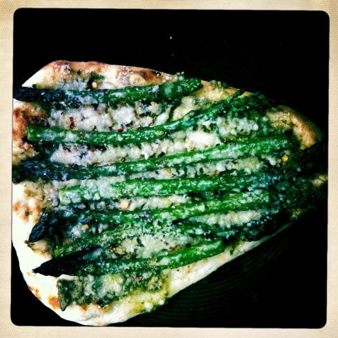 Asparagus Naan Pizza