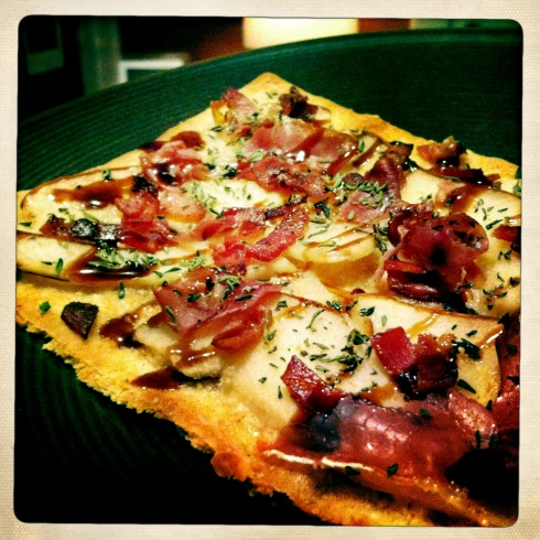 Pear and Pancetta Pizza