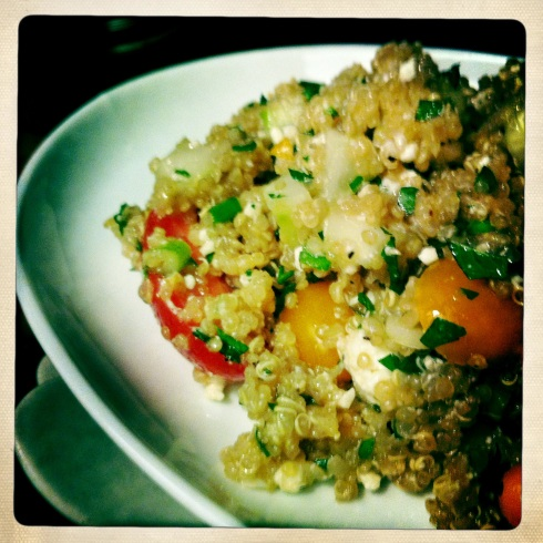 Quinoa Tabbouleh with Crumpled Feta